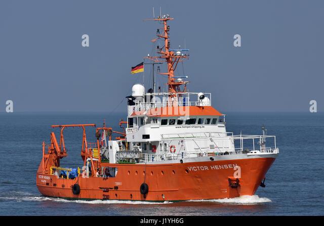 Research Vessel Victor Hensen - Stock Image