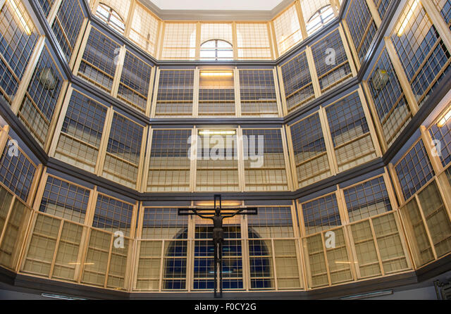 Italian prison. Interior view of one of the largest prisons in Italy - Stock Image
