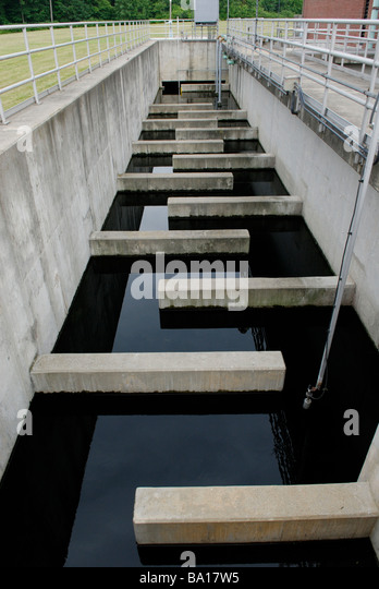 Water chlorination tank - Stock Image