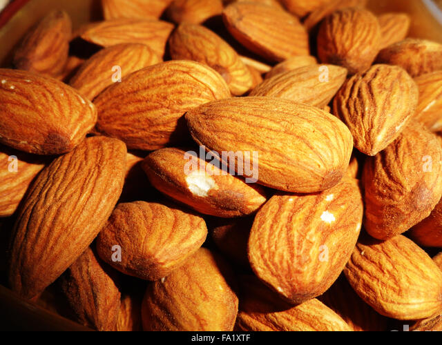 Delicious Healthy Almonds Nut - Stock Image