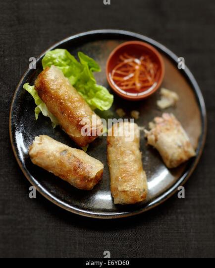 Pork nems - Stock Image