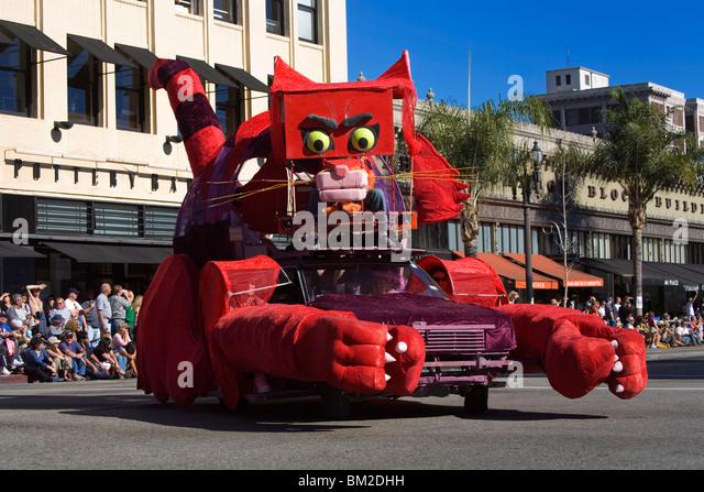 Doo Dah Parade float, Pasadena, Los Angeles, California, USA - Stock Image