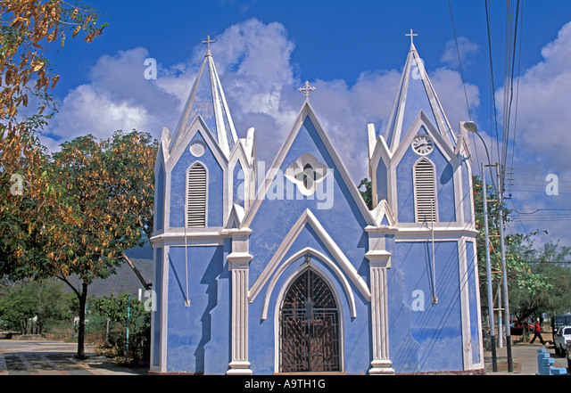 Isla Margarita island Venezuela Porlamar city Guaiqueri chapel tourist attraction  nobody - Stock Image