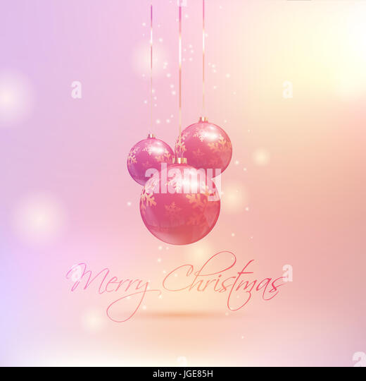 Christmas baubles on a retro coloured background - Stock Image