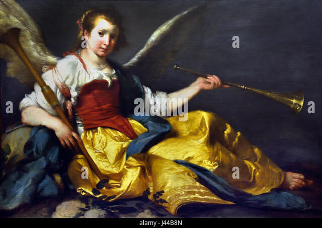 A Personification of Fame 1635 Bernardo Strozzi 1581 - 1644 Italy Italian - Stock Image