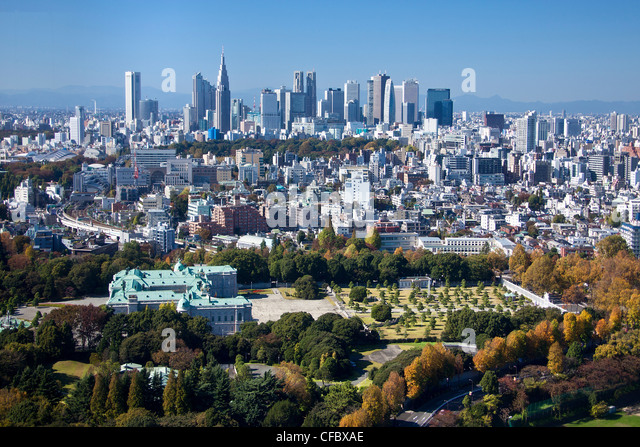 Japan, Asia, Tokyo, city, Shinjuku, District, State, Guest House, architecture, big, buildings, city, expressway, - Stock-Bilder