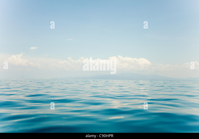 Peaceful water of South China Sea, Perhentian Islands, Malaysia - Stock Image