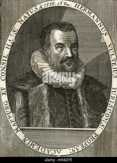 HERMANN VULTEIUS  German jurist and philologist - Stock Image