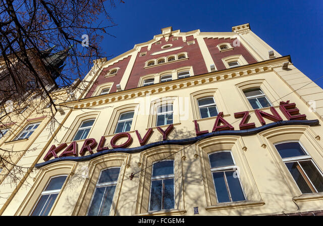 Karlovy Lazne, Night club, Old Town Mills, Prague, Czech Republic - Stock-Bilder