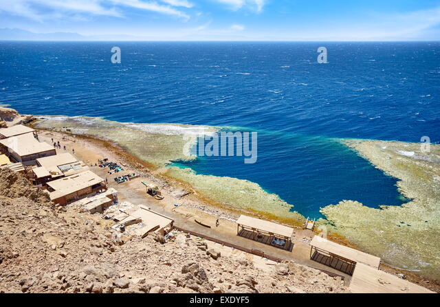 Blue hole, Dahab, Sinai, Red Sea, Egypt - Stock Image