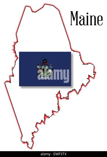 Maine Map Stock Photos Amp Maine Map Stock Images  Alamy