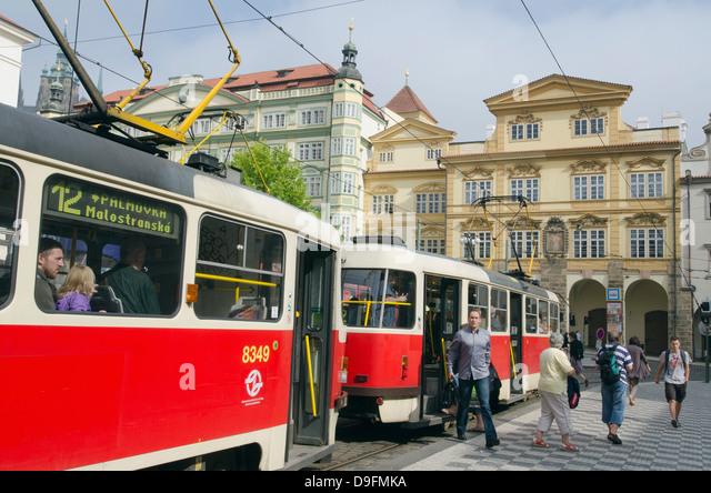 Street tram, Prague, Czech Republic - Stock-Bilder