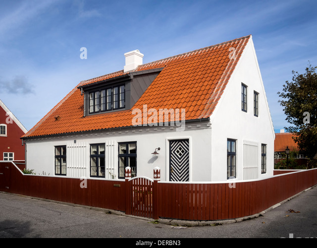 Denmark blue sky stock photos denmark blue sky stock images alamy - The jutland small house ...