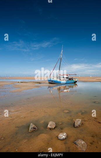 CH45 Fishing boat at Moels Cheshire - Stock Image