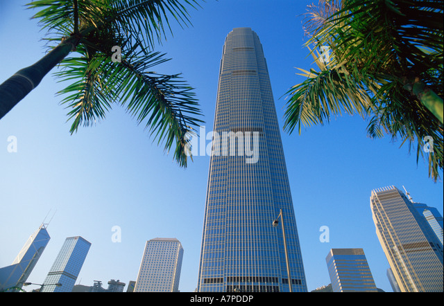 China, Hong Kong, Central, IFC, International Finance Centre Building - Stock Image