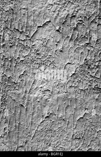 Surface of gray cement wall with solidified inleakages. Building backgrounds. - Stock-Bilder