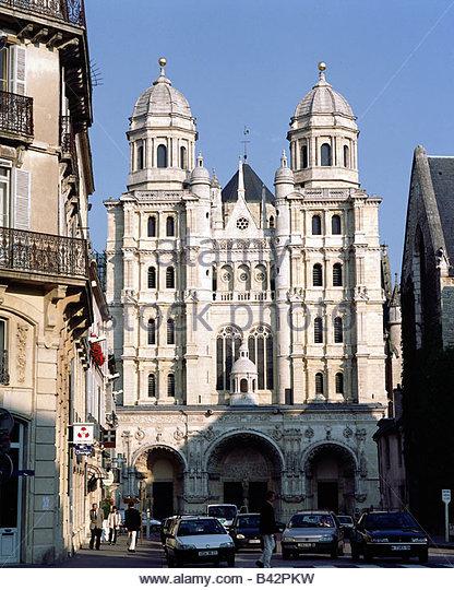 Church st michel dijon stock photos church st michel for Dijon architecture
