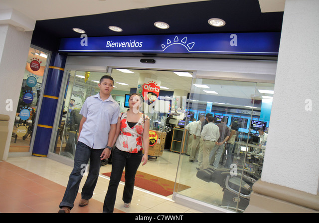 Managua Nicaragua Metrocentro shopping center centre mall business la Curacao chain home appliances electronics - Stock Image