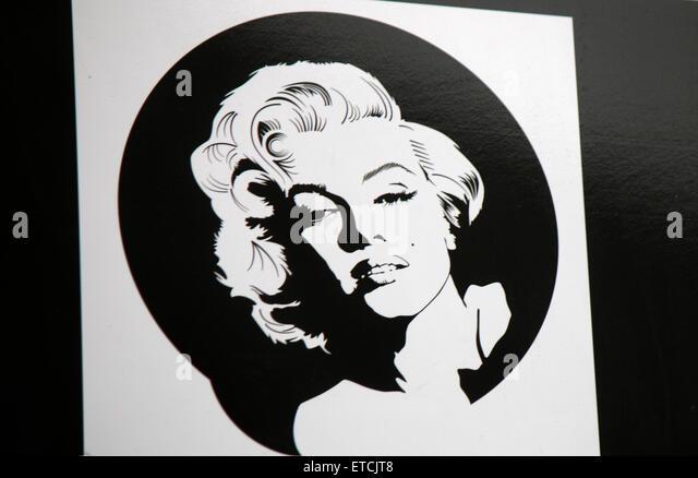 Marilyn Monroe, Berlin. - Stock Image