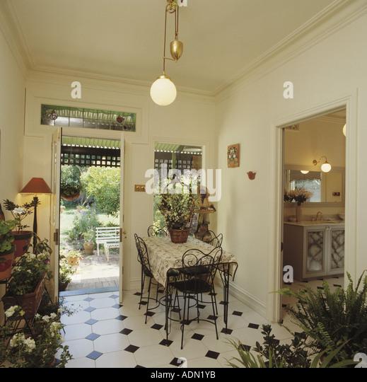 Flooring tiling monochromatic stock photos flooring for Black n white dining rooms