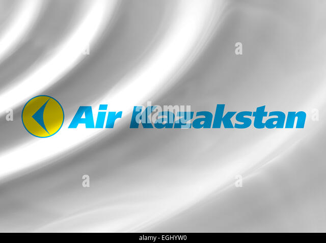 Air Kazakstan logo icon flag emblem symbol - Stock Image