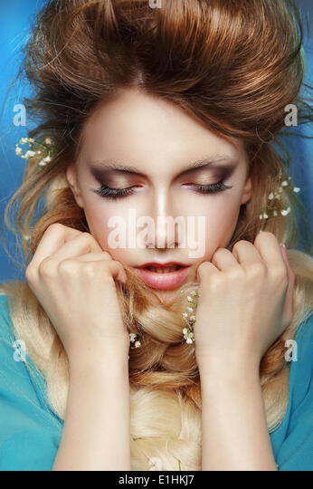 Challenge. Thoughtful Confused Woman Thinking - Stock Image