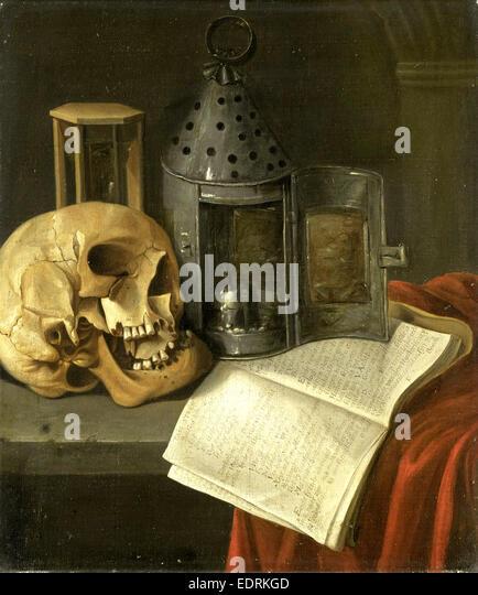 Vanitas Still Life, B. Schaak, 1675 - 1700 - Stock Image