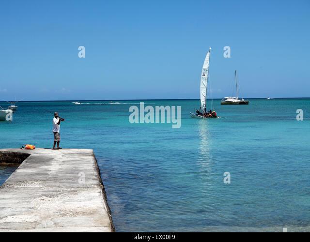beach Mont Choisy ile Maurice indian ocean Mascaregnes mauritius Mont Choisy Ocean Indien tropics tropical island - Stock-Bilder