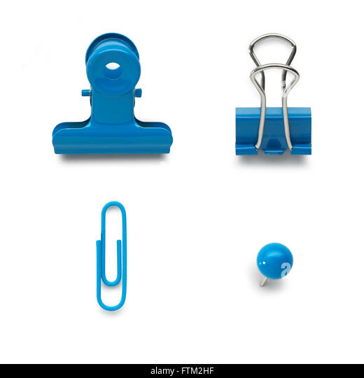 Selection of office stationary - Stock Image