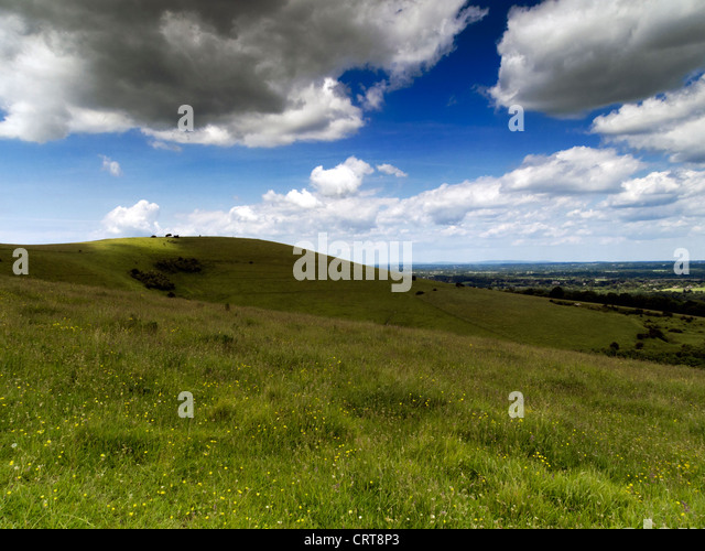 Wolstonbury Hill, South Downs National Park, Sussex - Stock Image