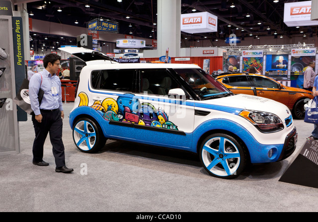 """Hole in One"" Kia Soul - Kia Concept car inspired by Michelle Wie - Stock Image"