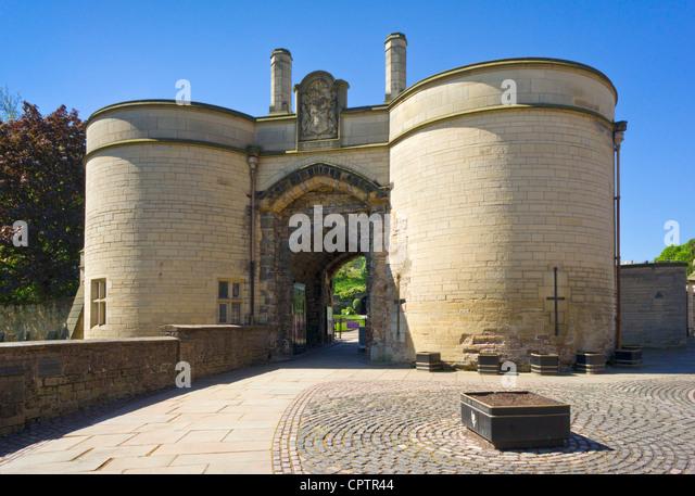Nottingham castle exterior gate house Nottinghamshire east midlands England UK GB EU Europe - Stock Image