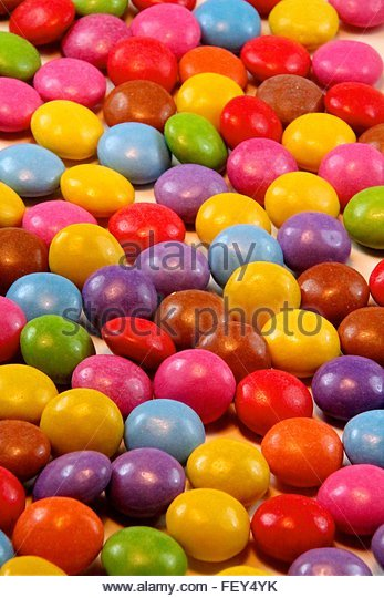 Close-Up Of Colorful Candies - Stock-Bilder