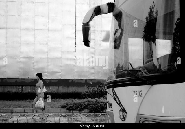 Bus rear mirror woman breast