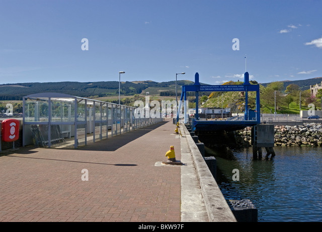 New Ro-Ro terminal in Dunoon harbour Scotland - Stock Image