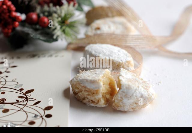 Italian almond pastry (Ricciarelli) - Stock Image