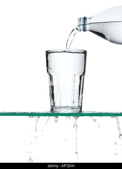 Pouring water - Stock Image