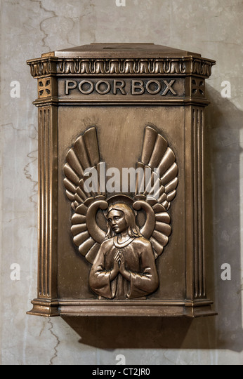 Church poor box. - Stock Image