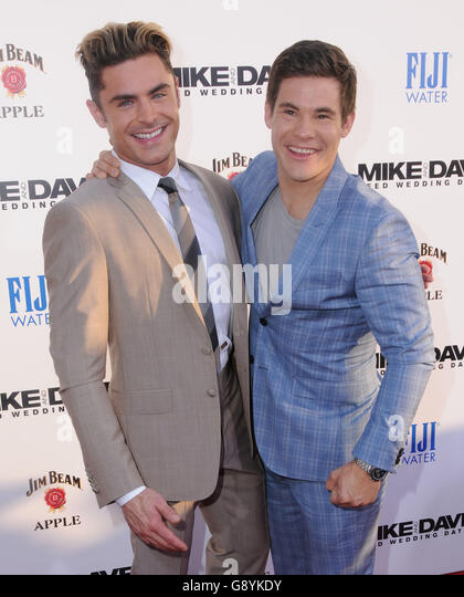 Hollywood, CA, USA. 29th June, 2016. 29 June 2016 - Hollywood. Zac Efron, Adam Devine. Arrivals for the Premiere - Stock Image