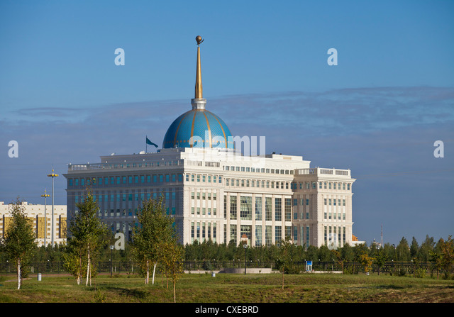 The Ak Orda, Presidential Palace of President Nursultan Nazarbayev, Astana, Kazakhstan, Central Asia, Asia - Stock Image