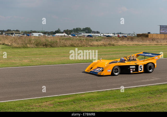 Chichester, West Sussex, UK. 12th September, 2014. Goodwood motor circuit, On the opening day of the three day event, - Stock Image