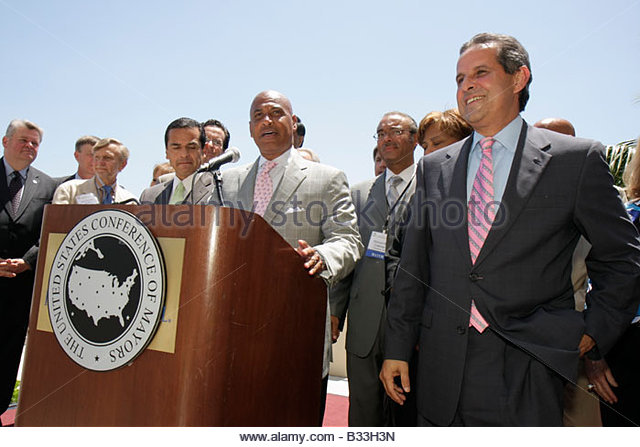 Miami Florida InterContinental Hotel United States Conference of Mayors Opening Press Conference Trenton New Jersey - Stock Image
