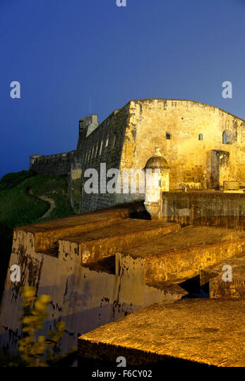 San Cristobal Castle, San Juan National Historic Site, Old San Juan, Puerto Rico - Stock Image