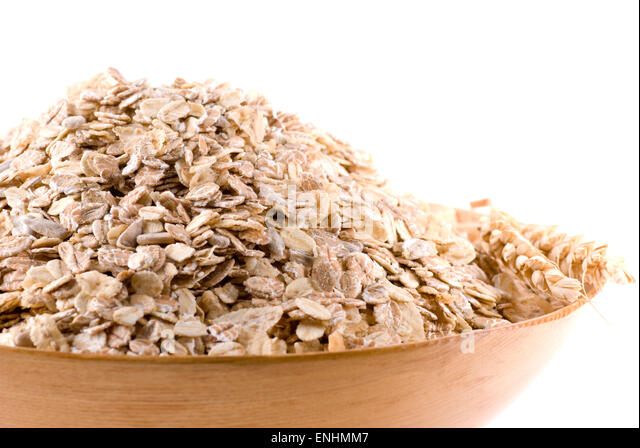 Oat, wheat, rye and sunflower seed muesli. - Stock Image
