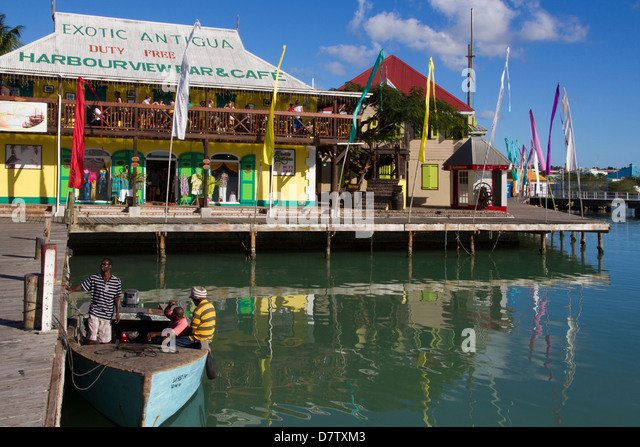 Radcliffe Quay, St. Johns, Antigua, Leeward Islands, West Indies, Caribbean - Stock Image
