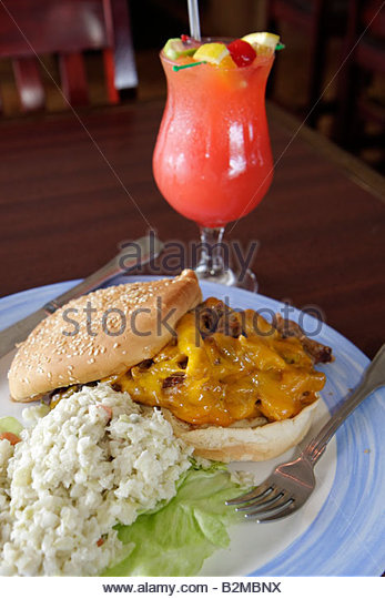 Wisconsin Kenosha Simmons Island Bluefish Restaurant Kenosha Yacht Club pulled barbeque pork sandwich coleslaw frozen - Stock Image
