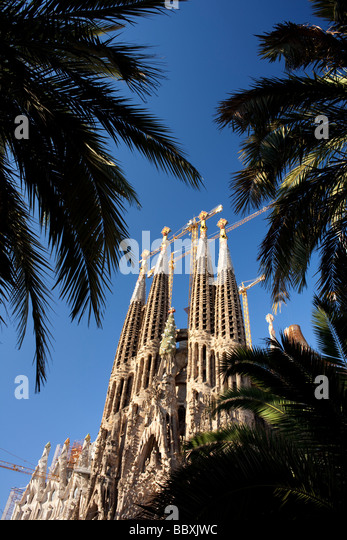 Sagrada Familia, Barcelona, Spain - Stock Image