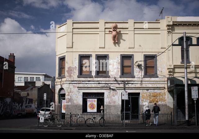 Brunswick Street, Fitzroy, Melbourne Australia - Stock Image