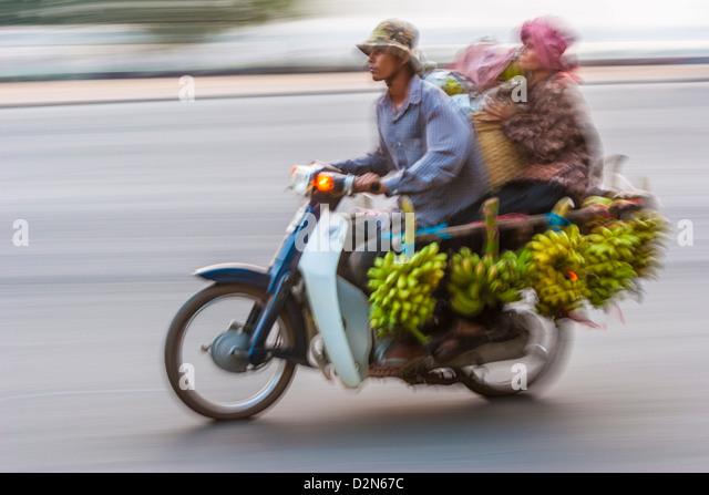 Sisowath Quay, Phnom Penh, Cambodia, Indochina, Southeast Asia, Asia - Stock Image