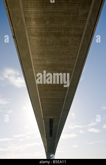 Underside of the Itchen Bridge Southampton Hampshire England - Stock-Bilder